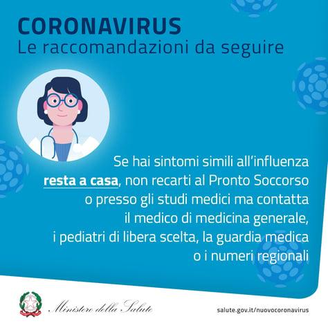 Coronavirus: raccomandazioni