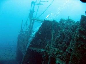 Il relitto della nave Haven