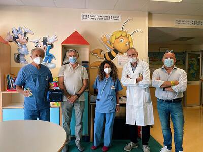 Ospedale Sacra Famiglia, un nuovo ecografo per la Pediatria