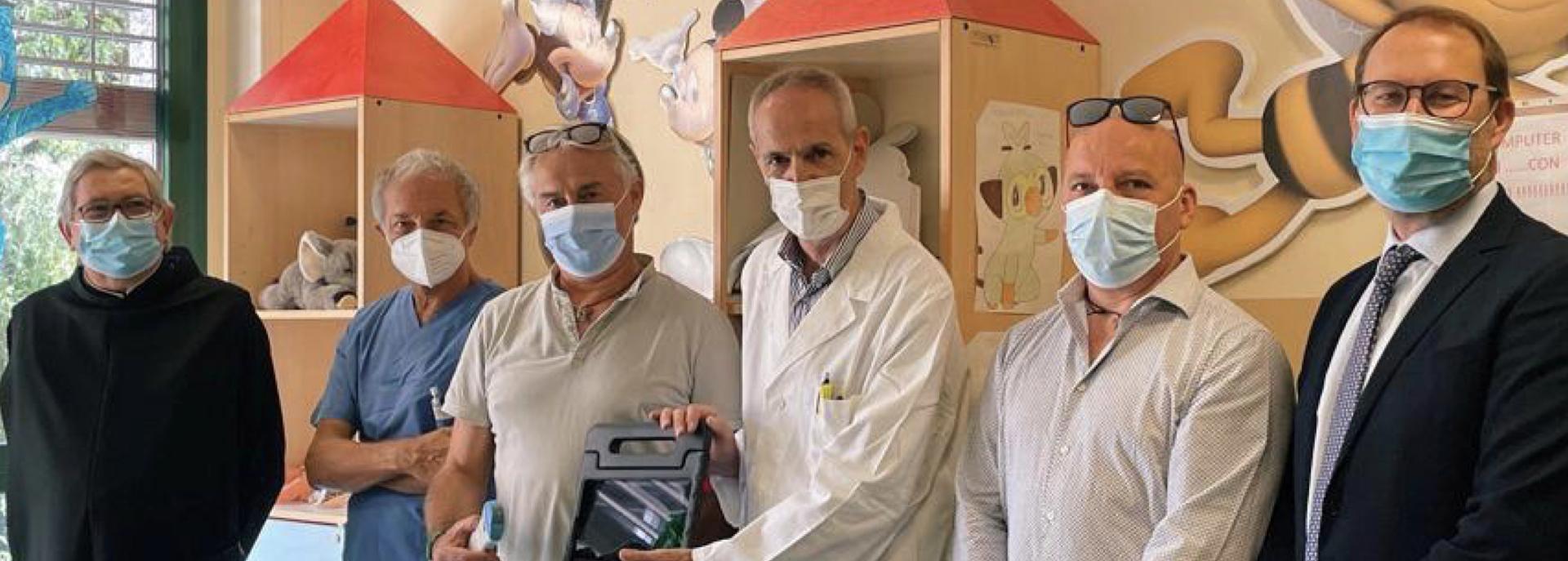 Ospedale Sacra Famiglia e doni solidali: un nuovo ecografo per la Pediatria