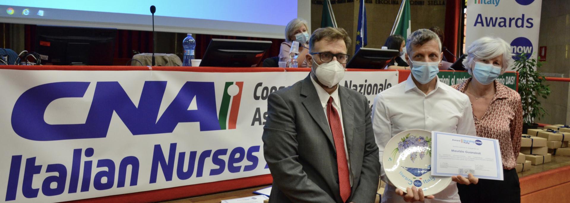 Nursing Now Italy Award, la premiazione dell'infermiere Guanziroli